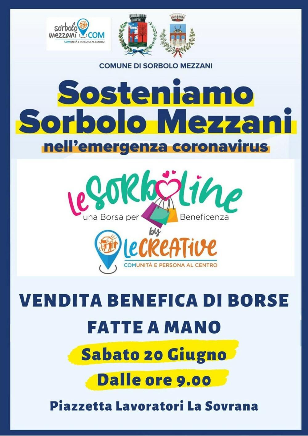 Le Sorboline Il 20 giugno vendita benefica di borse fatte a mano per sostenere le famiglie in difficoltà di Sorbolo