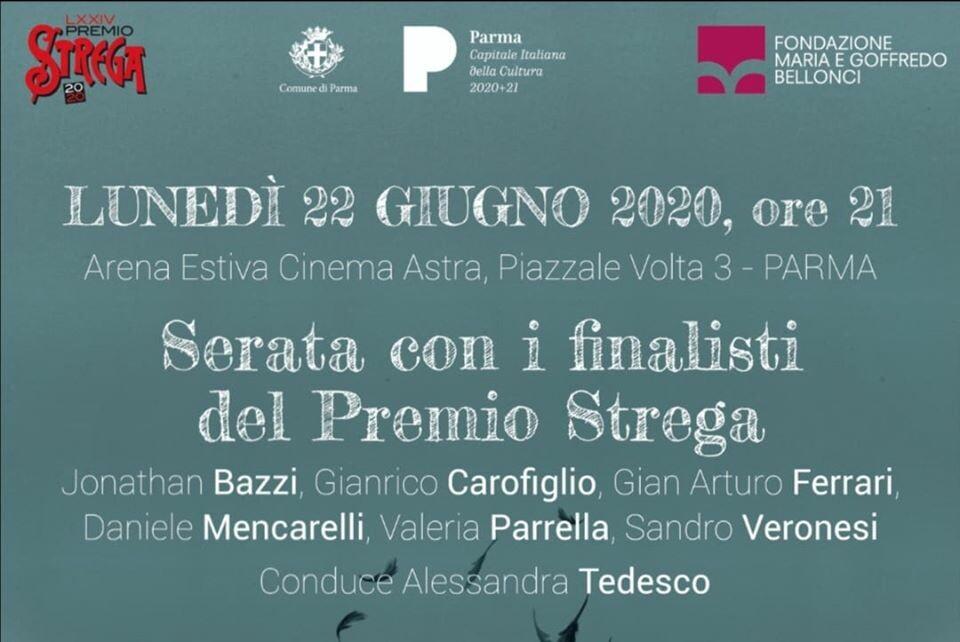 I sei finalisti de Il Premio Strega a Parma per Parma Capitale Italiana della Cultura 2020.