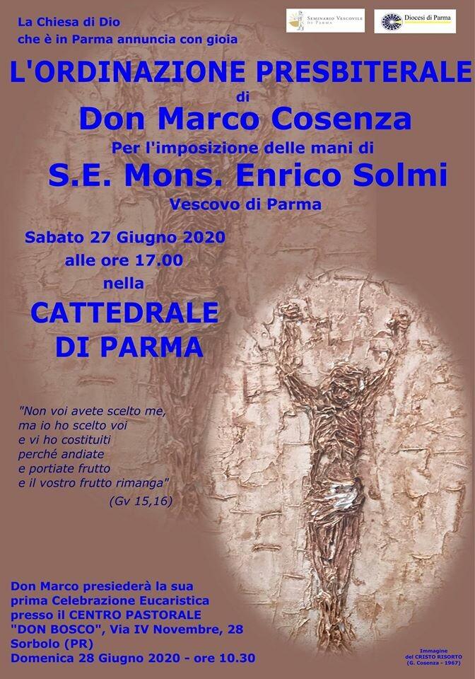 Ordinazione presbiterale di don Marco Cosenza per l'imposizione delle mani di S.E. Mons. Enrico Solmi