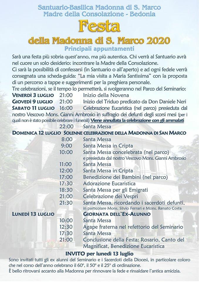 Festa della Madonna di San Marco a Bedonia