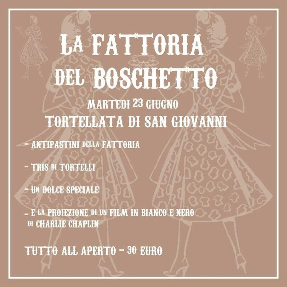 TORTELLATA DI SAN GIOVANNI  alla Fattoria Del Boschetto