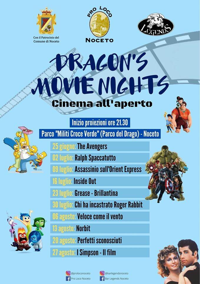 DRAGON'S MOVIE NIGHTS - Cinema all'aperto a Noceto