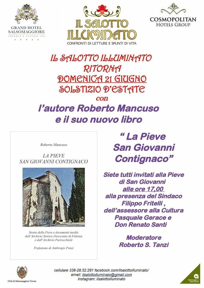"""Roberto Mancuso presenta il suo ultimo libro """"La pieve  San Giovanni Contignaco"""""""