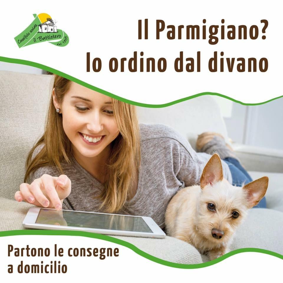Parmigiano reggiano, mozzarella fatta col latte dei re dei formaggi del caseifico Battistero a casa vostra