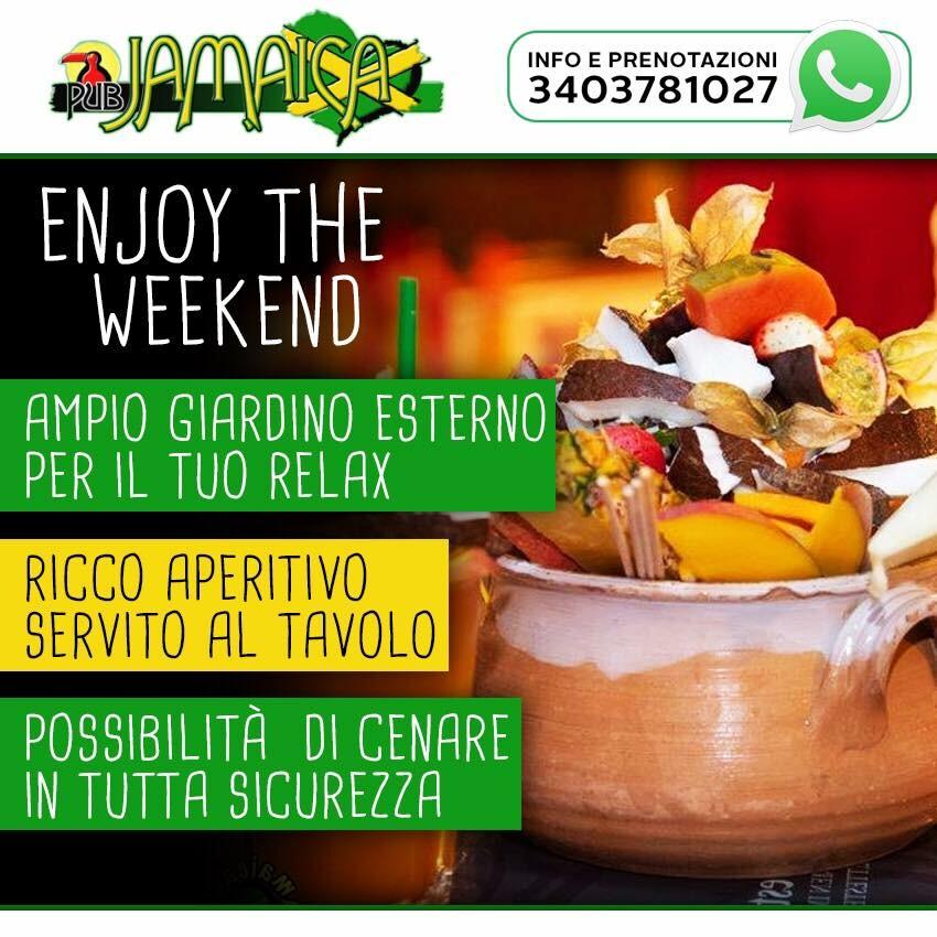 l weekend al Jamaica inizia il mercoledì dalle 18:30 in allegria e musica!