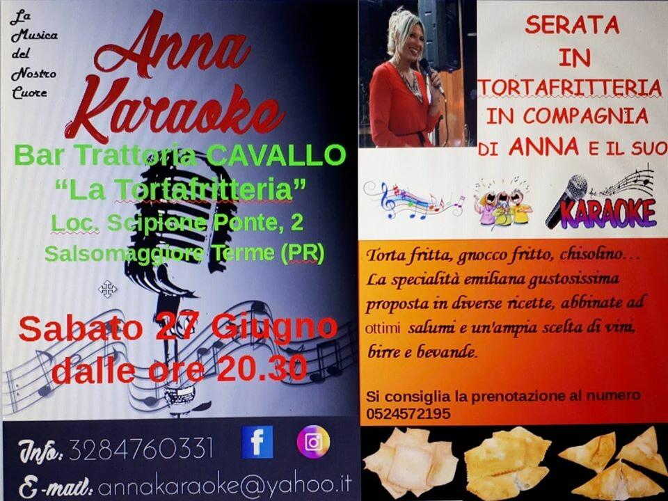 Serata in Tortafritteria con Anna e il suo Karaoke