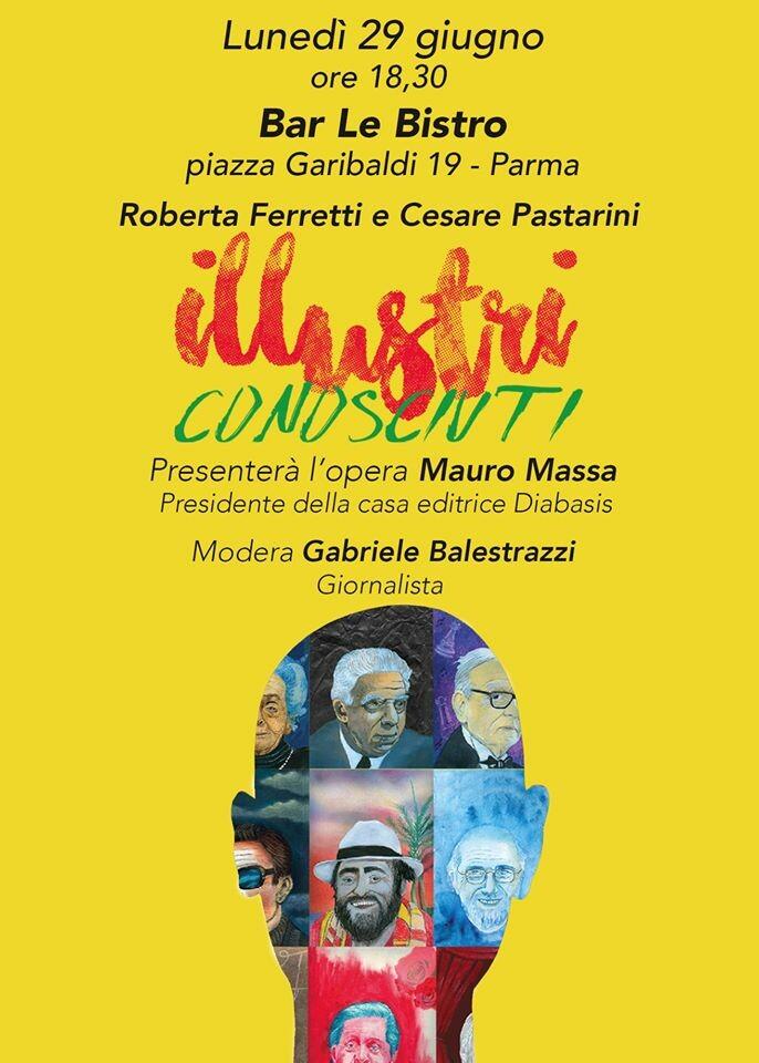 """A Le Bistro presentazione del libro """"Illustri conosciuti"""" di Roberta Ferrettii e Cesare Pastarini"""