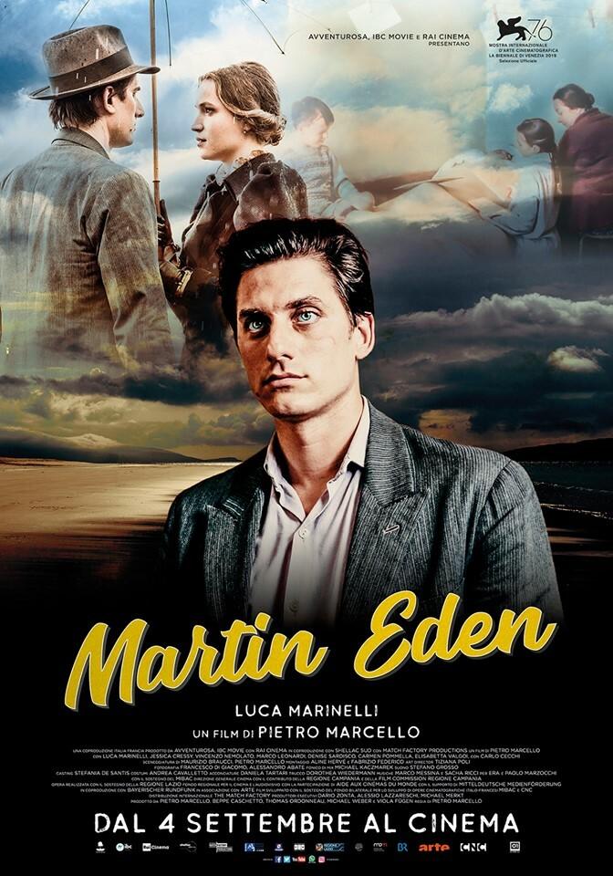 MARTIN EDEN  di Pietro Marcello. Con Luca Marinelli, all' Arena estiva del cinema Astra.