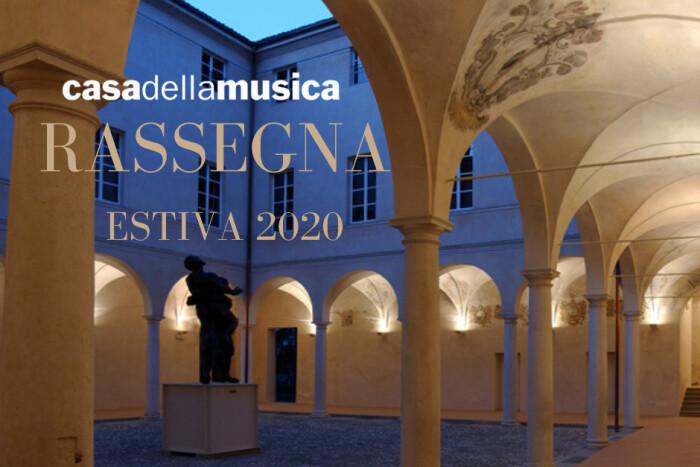 CASA DELLA MUSICA  LA RASSEGNA ESTIVA 2020  Un'altra estate ricca di musica, poesia e cultura  nel Cortile d'Onore della Casa della Musica.