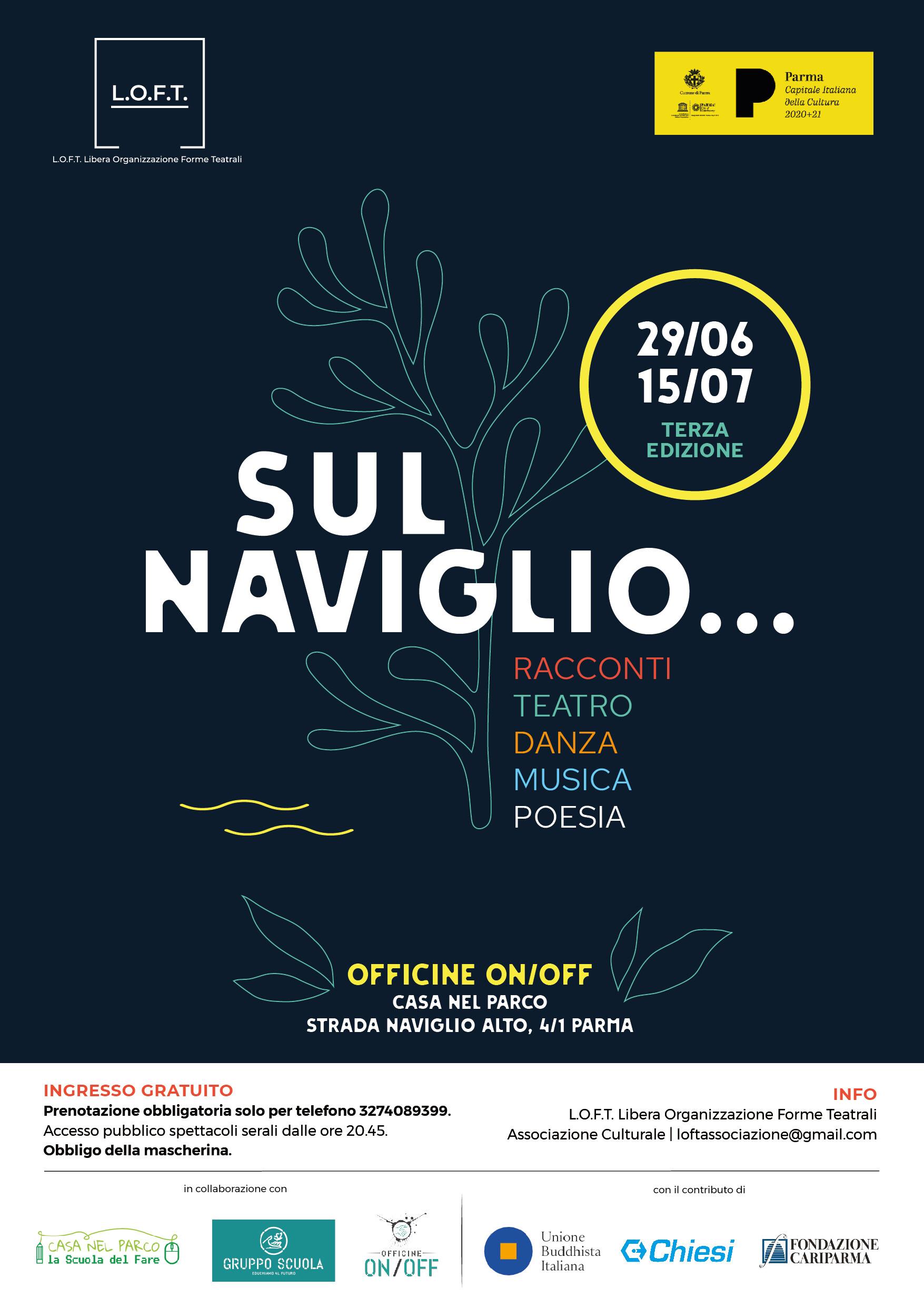 """""""SUL NAVIGLIO...racconti, teatro, danza, musica e poesia"""", terza edizione"""