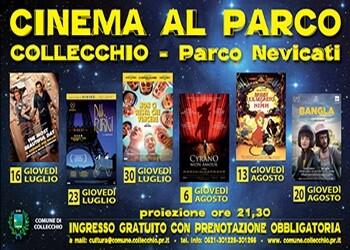 CINEMA AL PARCO 2020! Torna la rassegna cinematografica estiva al parco Nevicati.