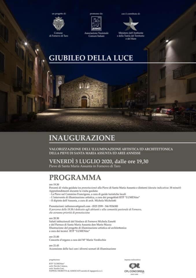Giubileo della Luce:  illuminazione artistica ed architettonica della Pieve di Santa Maria Assunta