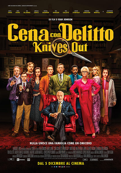 CENA CON DELITTO-Knives Out all' Arena estiva del cinema Astra.