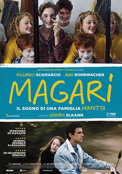 MAGARI con Riccardo Scamarcio, Alba Rohrwacher  all' Arena estiva del cinema Astra. Alla serata sarà presente la regista Ginevra Elkann