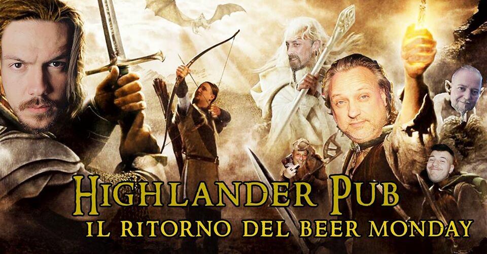Il Ritorno Del Beer Monday al  pub Highlander