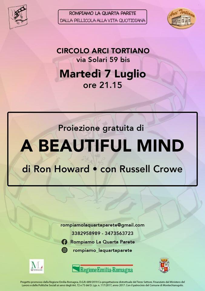 """""""Rompiamo la quarta parete"""": proiezione del film """"A beautiful mind"""""""