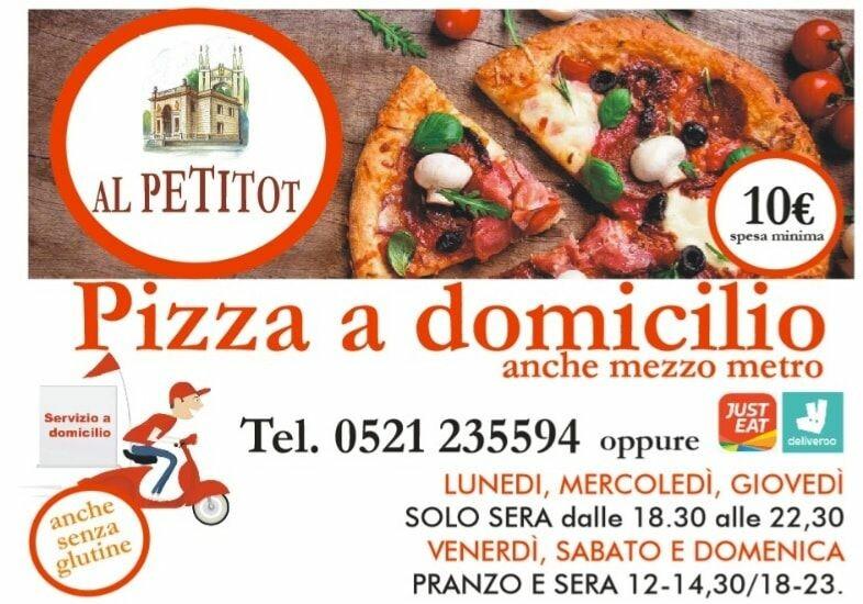 Ristorante pizzeria AL PETITOT  orari di apertura e consegna a domicilio
