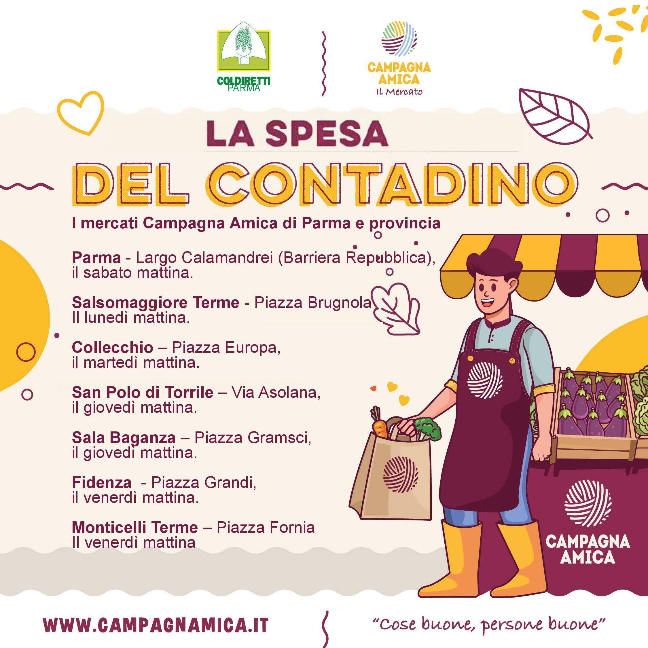 Mercati campagna amica a Parma e provincia