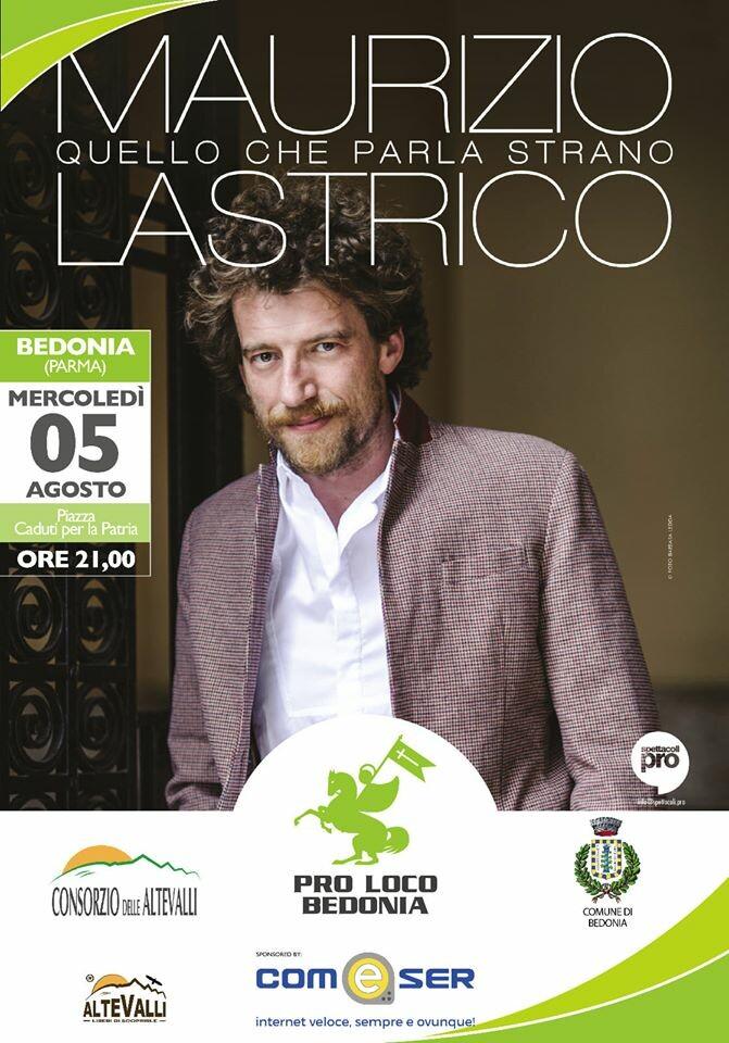 Spettacolo di Maurizio Lastrico a Bedonia