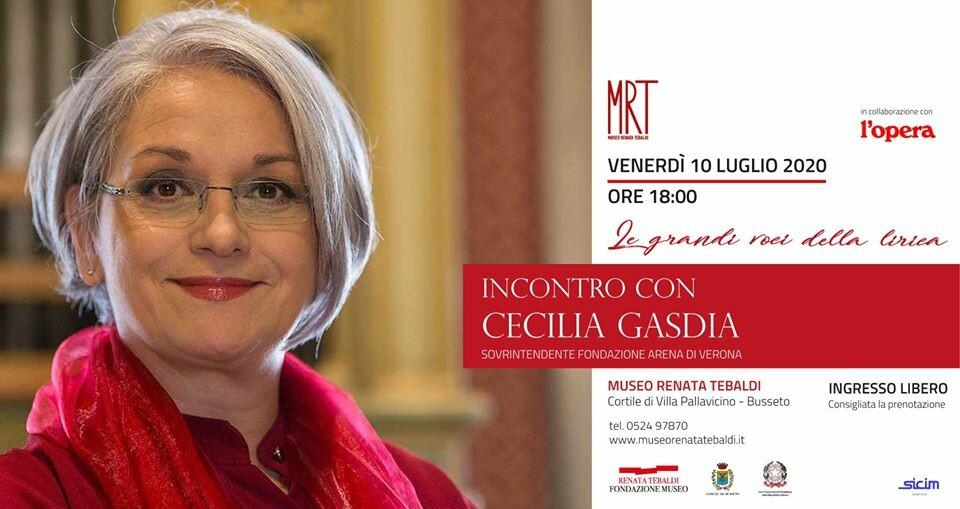 Le grandi voci della Lirica: incontro con Cecilia Gasdia al Museo Renata Tebaldi