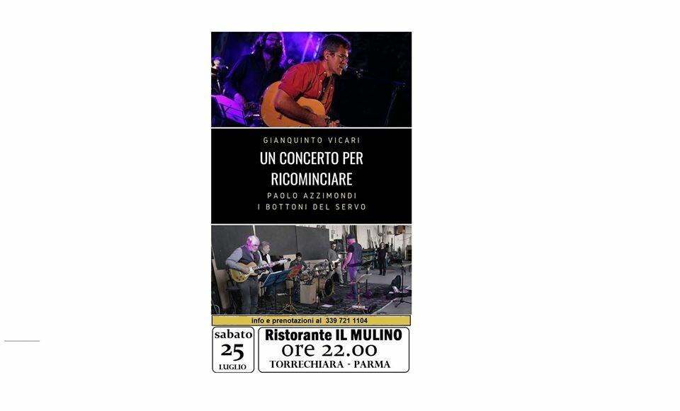 Un concerto per ricominciare al risotrante IL MULINO DI TORRECHIARA