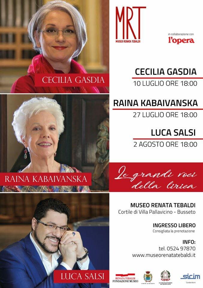Le grandi voci della Lirica al Museo Renata Tebaldi
