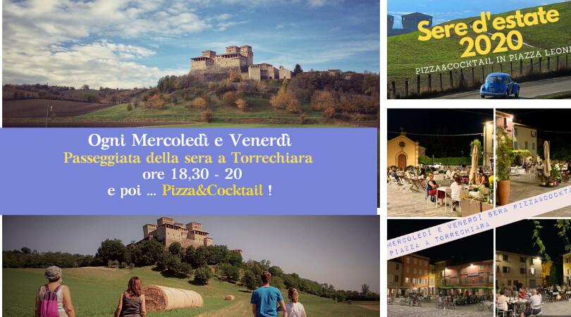 Sere d'Estate a Torrechiara, c'è una NOVITA' OGNI Mercoledì  e Venerdì    Passeggiata della sera intorno al Castello di Torrechiara