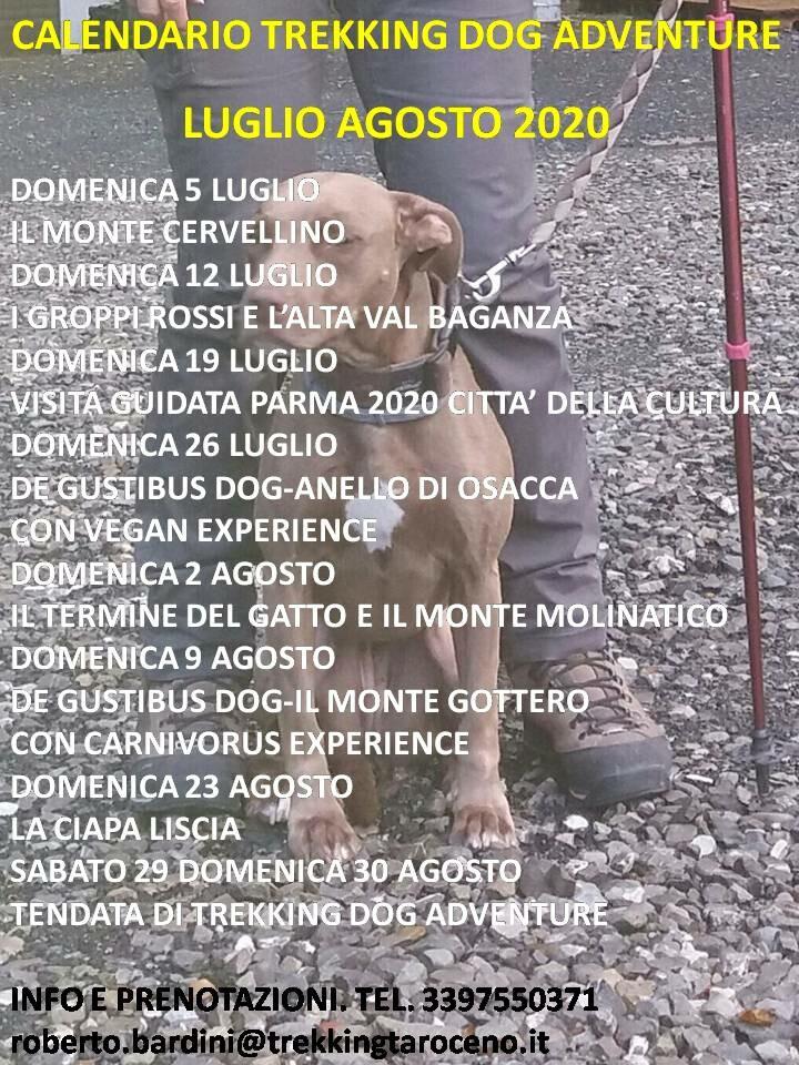 Il calendario estivo di Trekking Dog Adventure