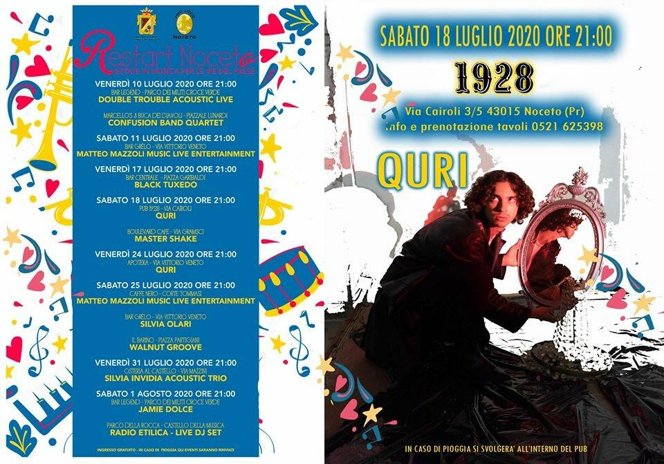 Restart in Noceto: Quri e la sua chitarra al Pub Gourmet 19.28 Ristorante