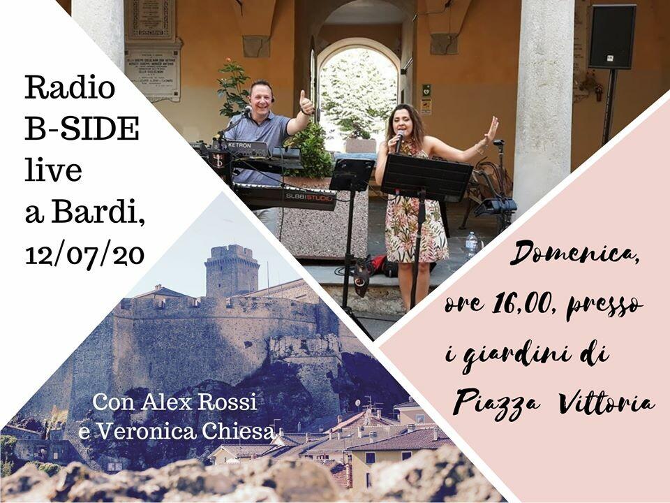 Radio B-Side Live, con Alex Rossi e Veronica Chiesa a Bardi