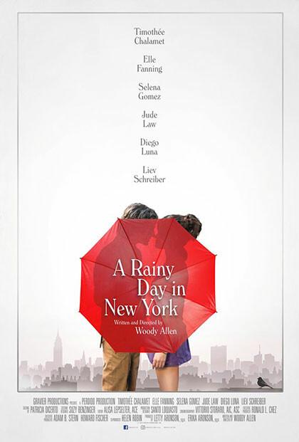 UN GIORNO DI PIOGGIA A NEW YORK   di Woody Allen    all' Arena estiva del cinema Astra.