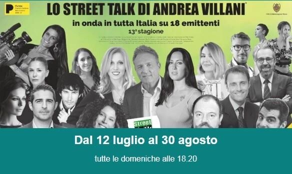 """Lo Street Talk di Andrea VillanI: ospiti: Claudio Fois, autore televisivo del programma """"Crozza nel Paese delle Meraviglie"""