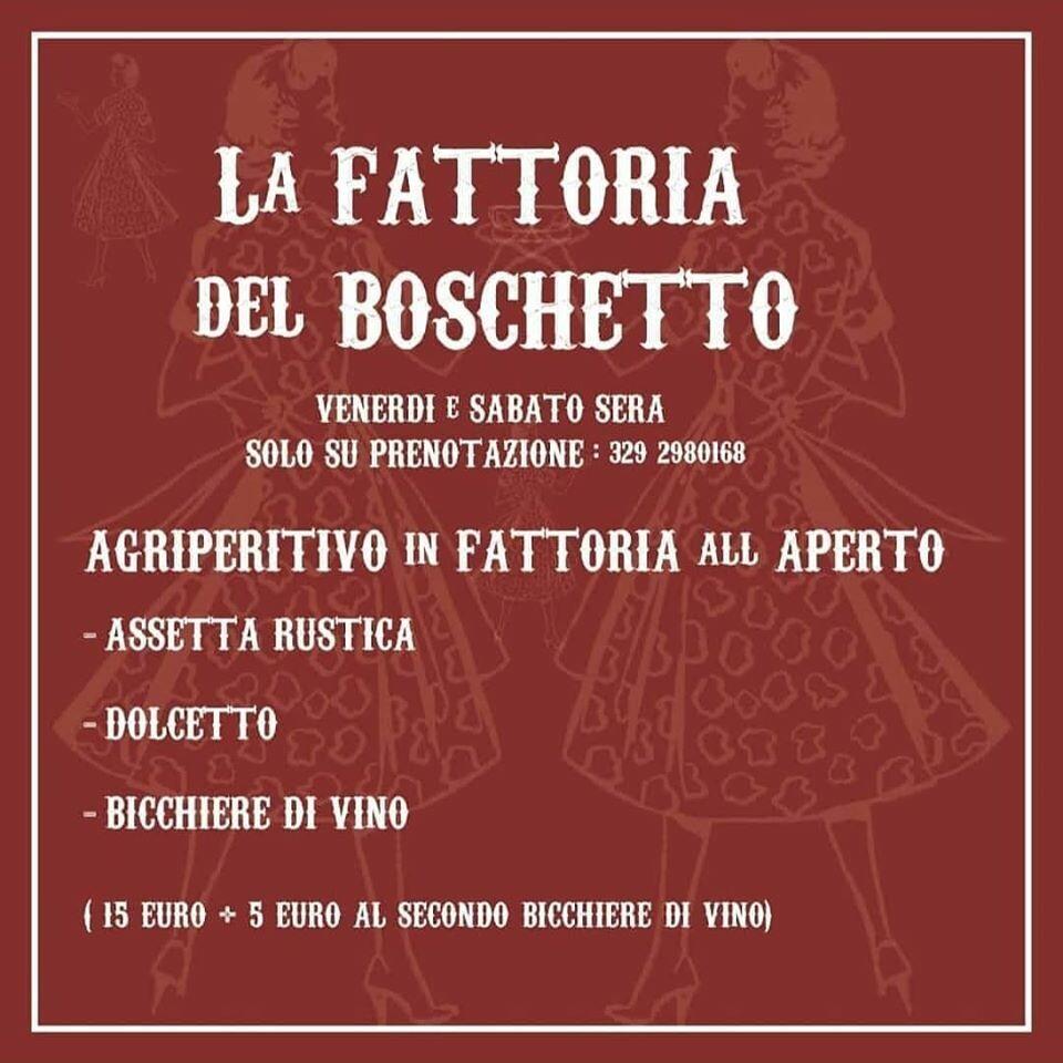 AGRIPERITIVO alla Fattoria Del Boschetto