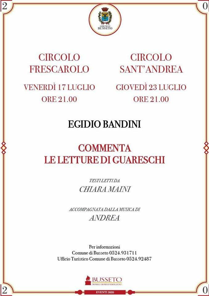 """Egidio Bandini commenta """"Le letture di Guareschi"""""""