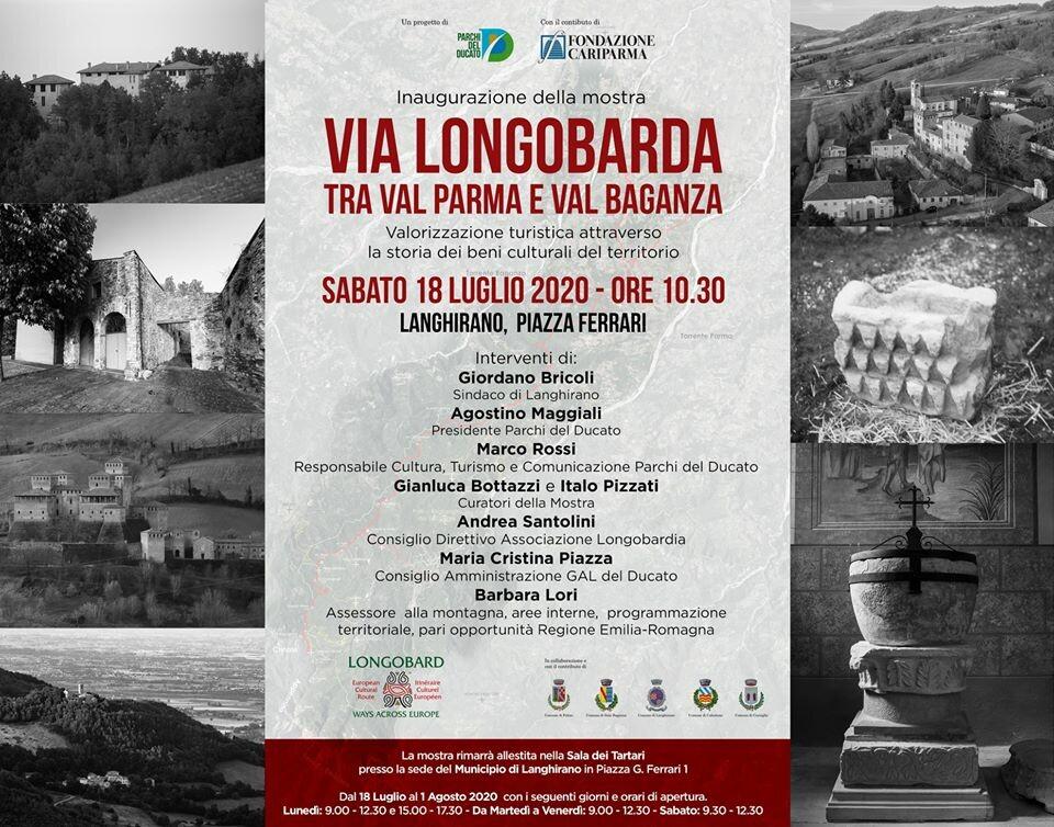 VIA LONGOBARDA tra Val Parma e Val Baganza, mostra