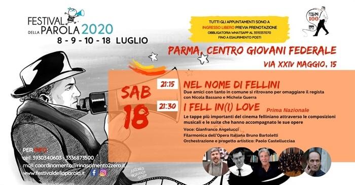 Festival della Parola Posticipata la serata conclusiva a sabato 18 luglio (anziché 11 luglio).