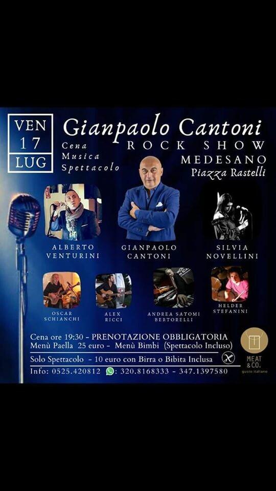 Gianpaolo Cantoni e rock show in piazza Rastelli