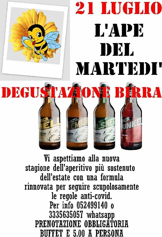 L'ape del martedì: birra e piadina al Leon d' Oro
