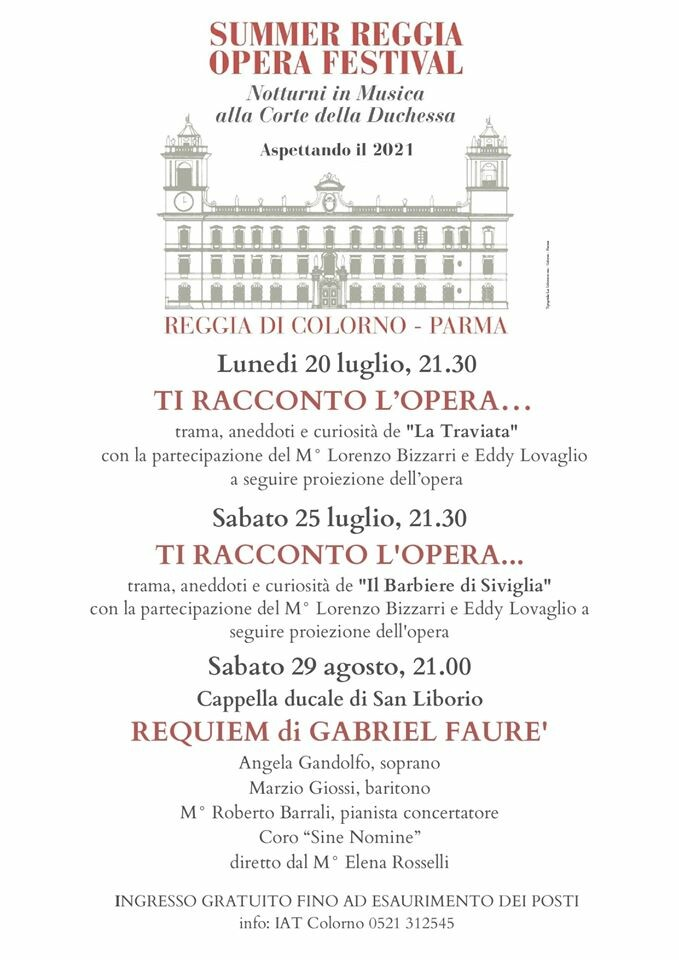 Summer Reggia opera festival