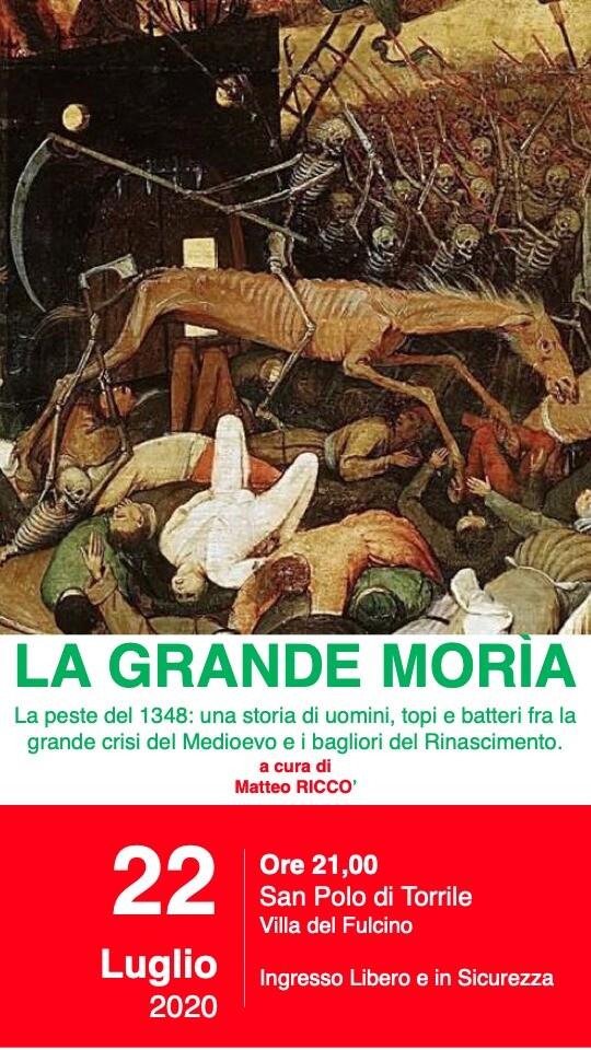 """""""LA GRANDE MORÌA"""" ALLA VILLA DEL FULCINO:DALLA PESTE DEL 1348 ALL'OTTIMISM"""
