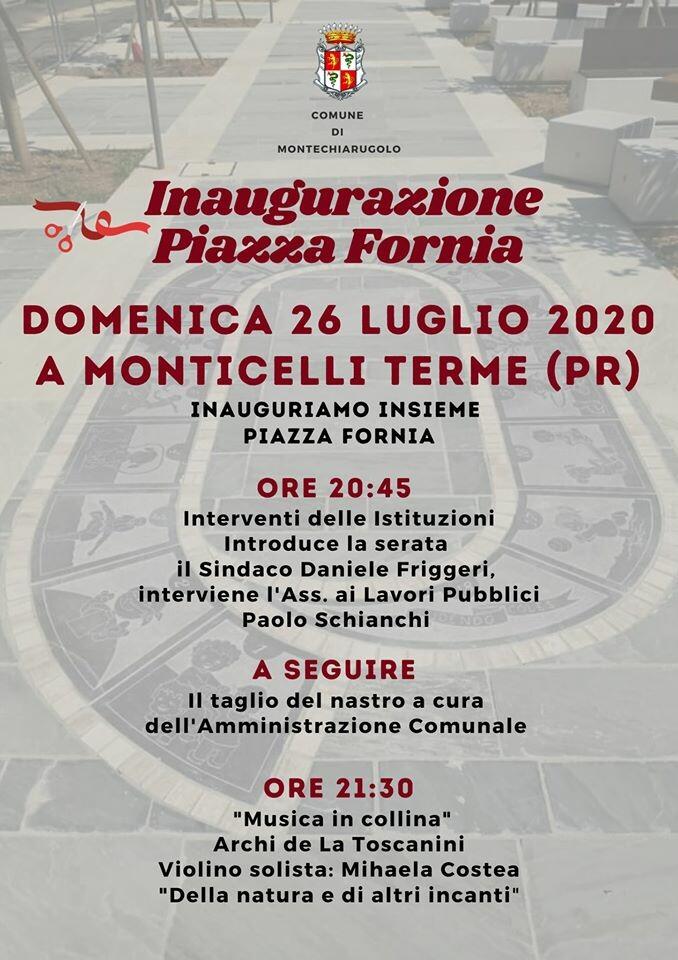 Inaugurazione Piazza Fornia a Monticelli Terme