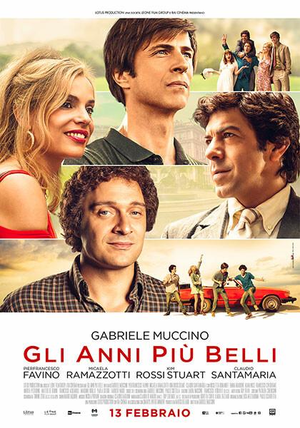 GLI ANNI PIU' BELLI  di Gabriele Muccino. Con: Pierfrancesco Favino,Micaela Ramazzotti, all' Arena estiva del cinema d'Azeglio
