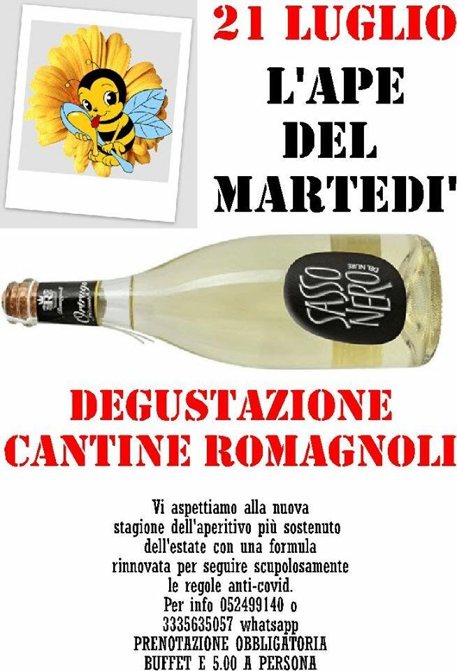 L'ape del martedì degusta Cantine Romagnoli allaTrattoria Leon d'Oro