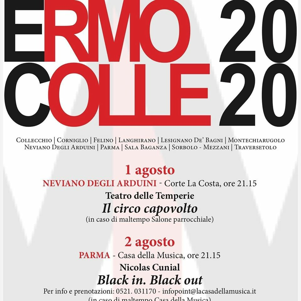 """PALIO ERMO COLLE 2020: """"BLACK IN. BLACK OUT"""""""