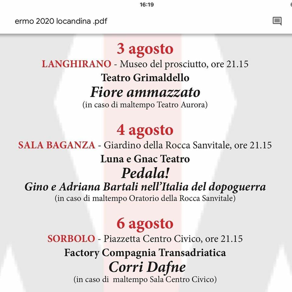 """PALIO ERMO COLLE 2020 a Sala Baganza: """"PEDALA! GINO E ADRIANA BARTALI NELL'ITALIA DEL DOPOGUERRA"""""""