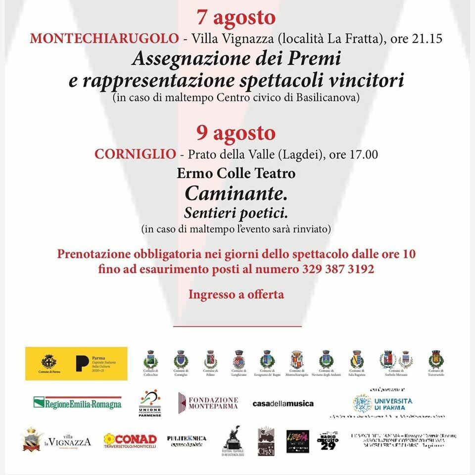 """PALIO ERMO COLLE 2020 a Corniglio: """"CAMINANTE. Sentieri poetici"""""""