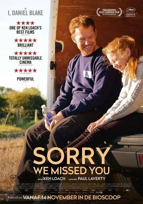 SORRY WE MISSED YOU  di Ken Loach all' Arena estiva del cinema Astra.