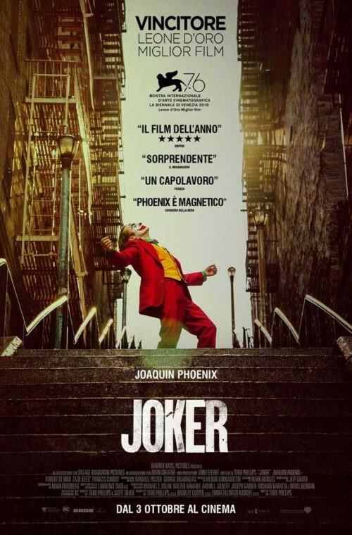 JOKER  Premio Oscar-Miglior Attore all' Arena estiva del cinema Astra.