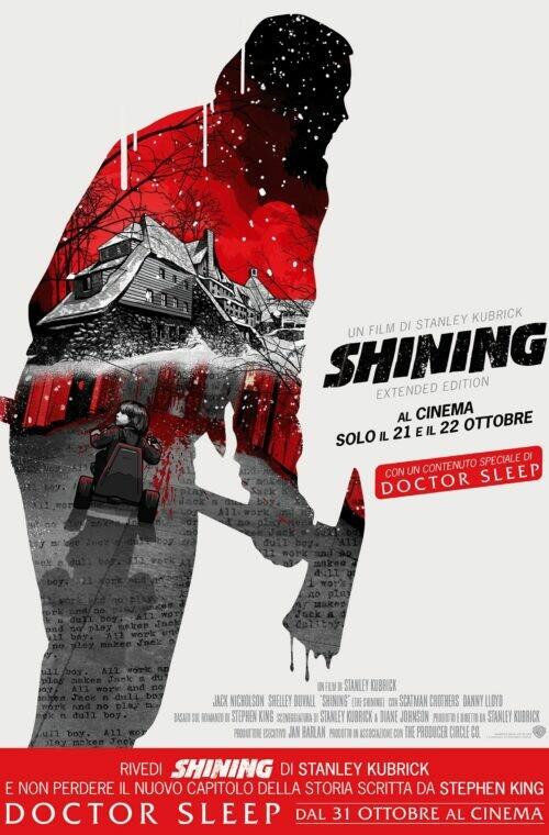 """""""I Giardini della Paura""""  SHINING- Extended edition  di Stanley Kubrick.Con Jack Nicholson"""