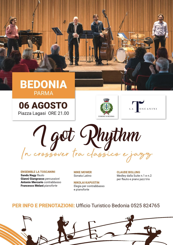 I GOT RHYTHM: In crossover tra classico e jazz a Bedonia